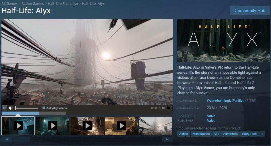 Choi Game Half Life Alyx
