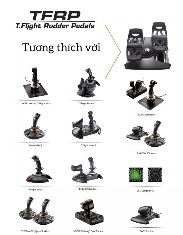 Tuong Thich Thrustmaster Rudder Pedals