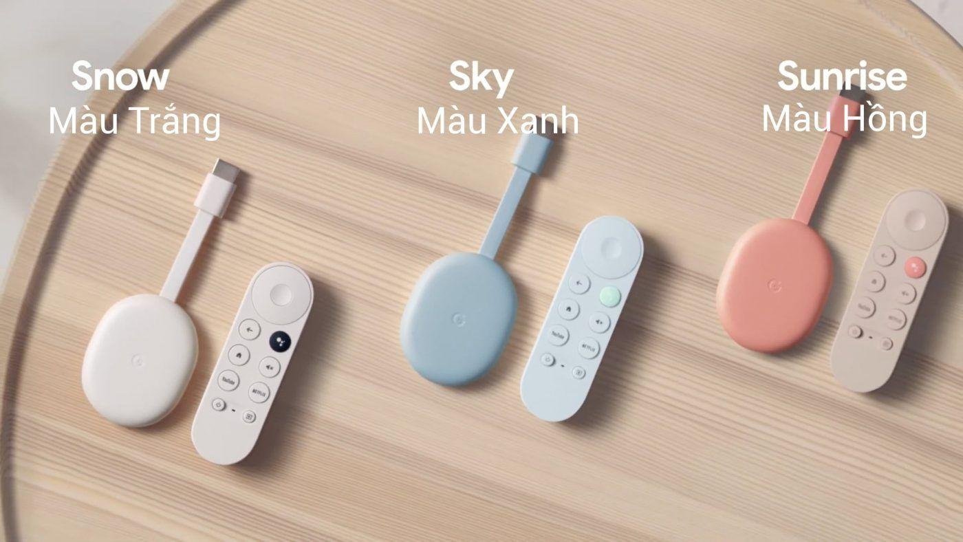 3 Màu Chromecast With Google Tv