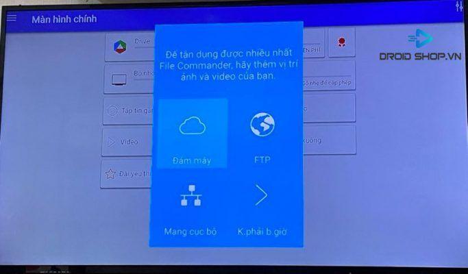 Chọn Biểu Tượng Cloud Trên File Commander