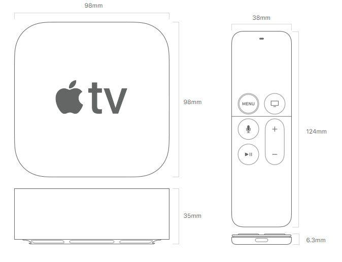 Kích Thước Apple Tv Gen 5