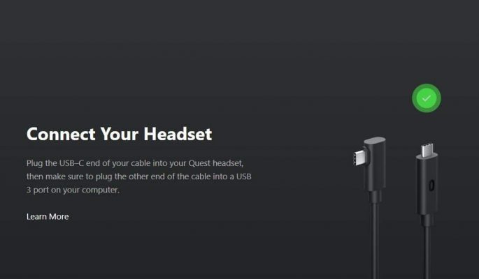 Kết Nối Cáp Oculus Link